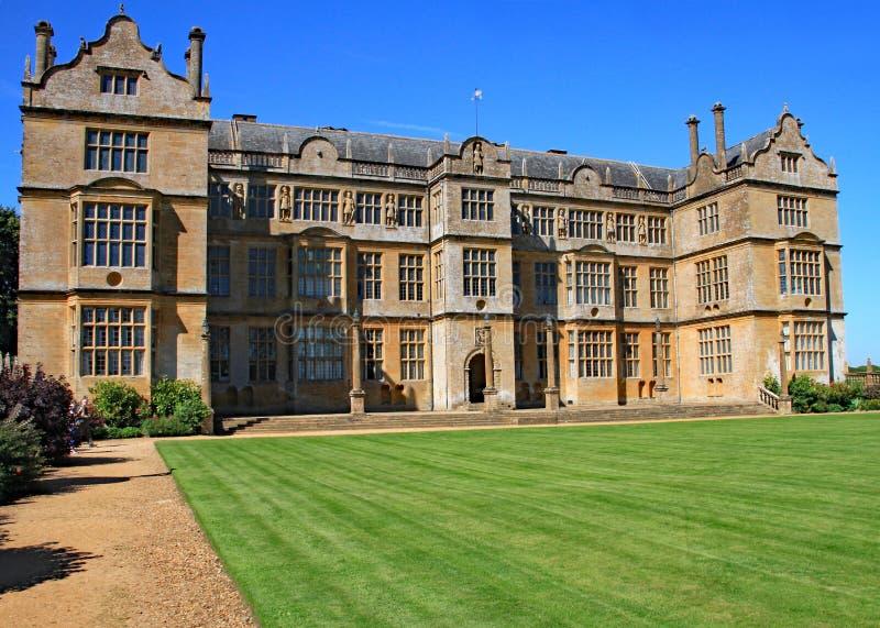Maison majestueuse anglaise près de Yeovil à Somerset, Angleterre photographie stock libre de droits