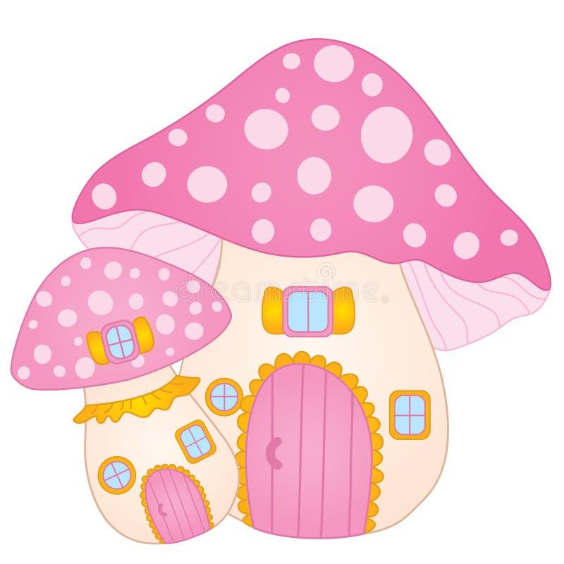 Maison mignonne de champignon de vecteur Maison d'amanite de vecteur illustration de vecteur