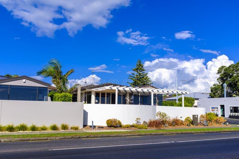Maison moderne à Auckland du centre photographie stock libre de droits
