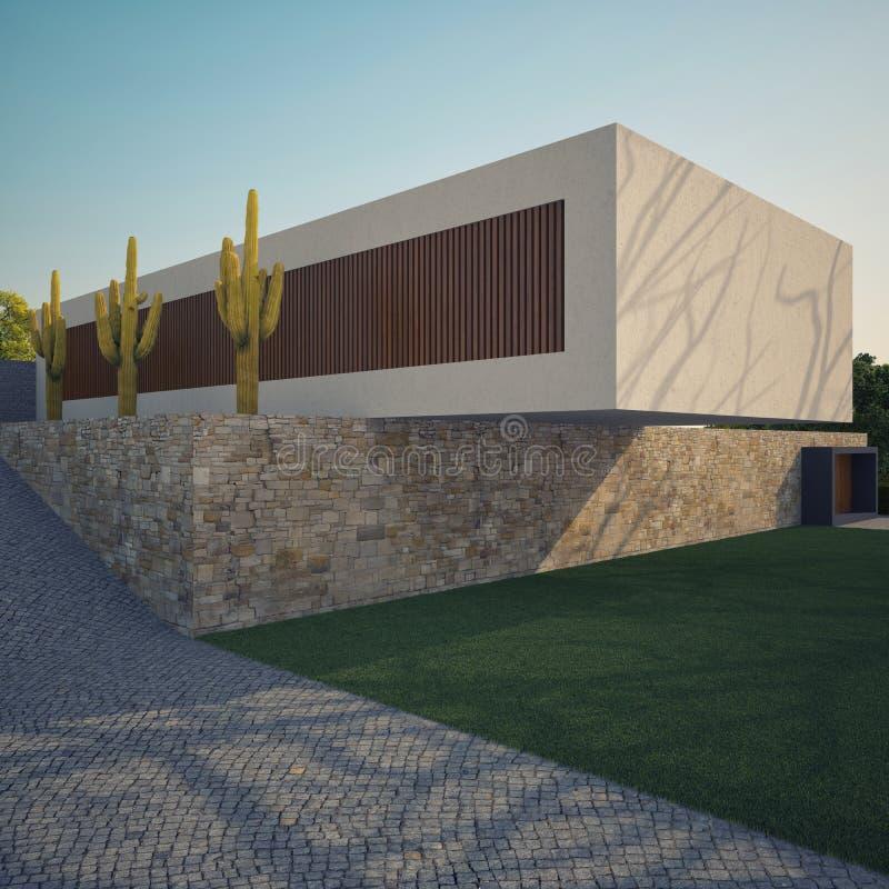 Maison moderne illustration de vecteur