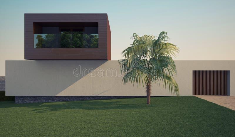 Maison moderne illustration libre de droits