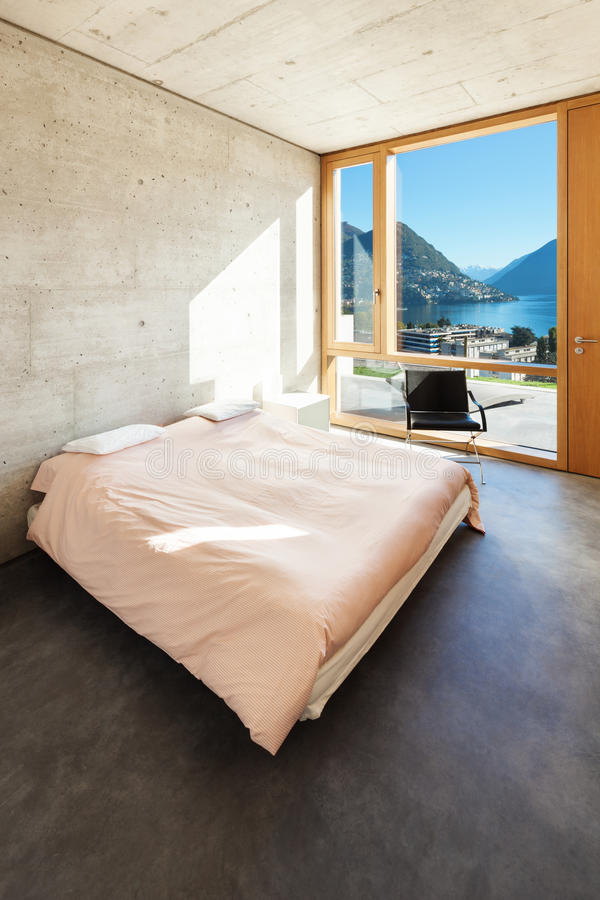 Maison moderne en ciment image libre de droits