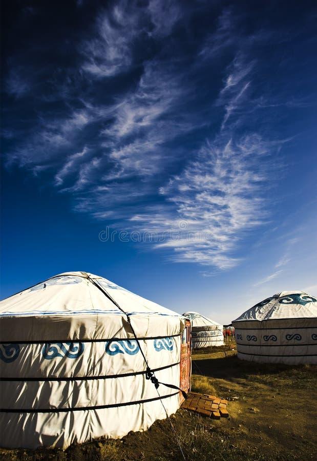 Maison mongole images stock
