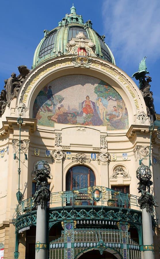 Maison municipale, Prague. image stock