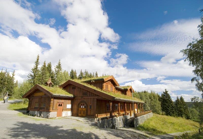 Maison norvégienne. image stock