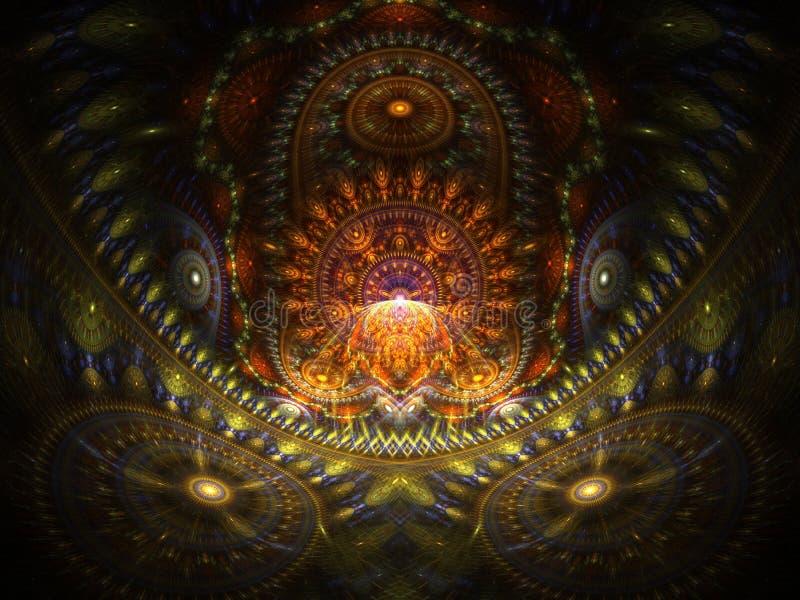 Maison optique d'art du Buddah 01 illustration libre de droits