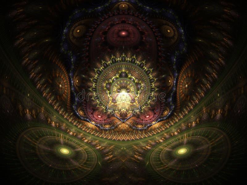 Maison optique d'art du Buddah 02 illustration de vecteur