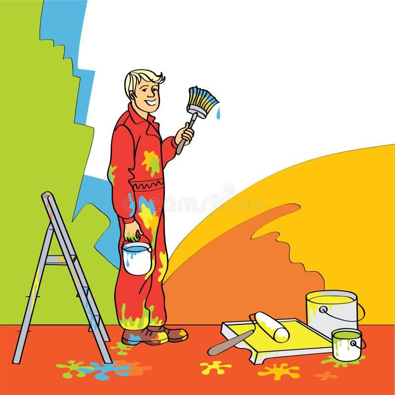 Maison-peintre illustration de vecteur