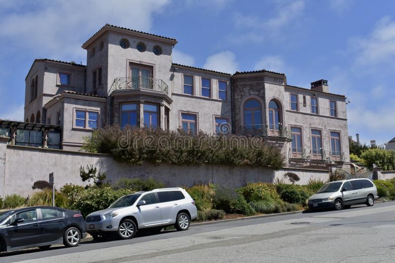 Maison personnelle de Robin Williams San Francisco, 1 images libres de droits