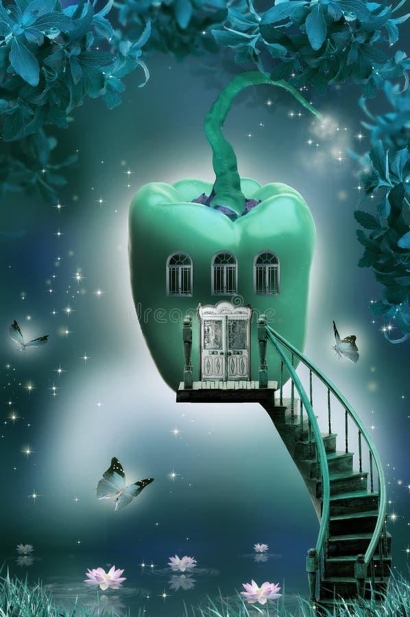 Maison-poivre magique illustration stock