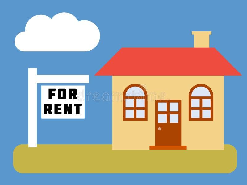Maison pour le loyer illustration libre de droits