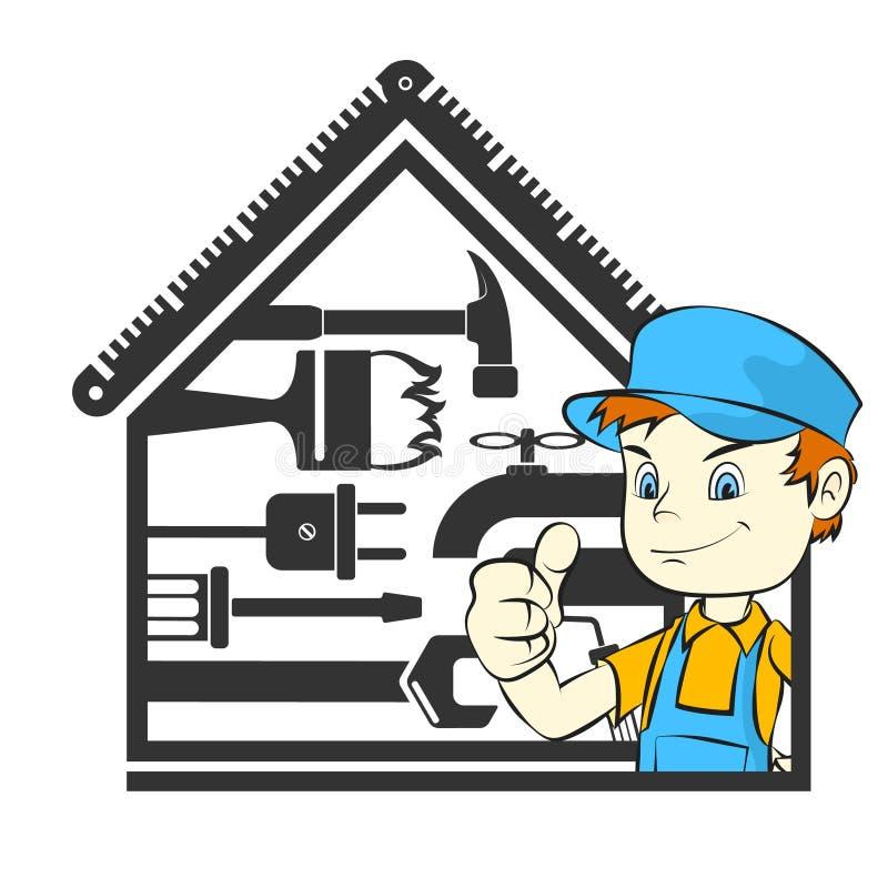 Maison principale de réparation illustration stock