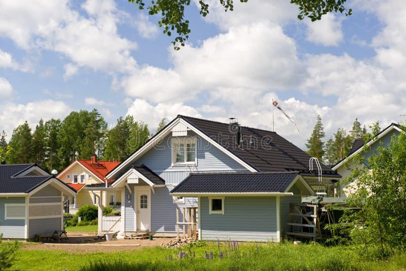 Maison privée scandinave image libre de droits