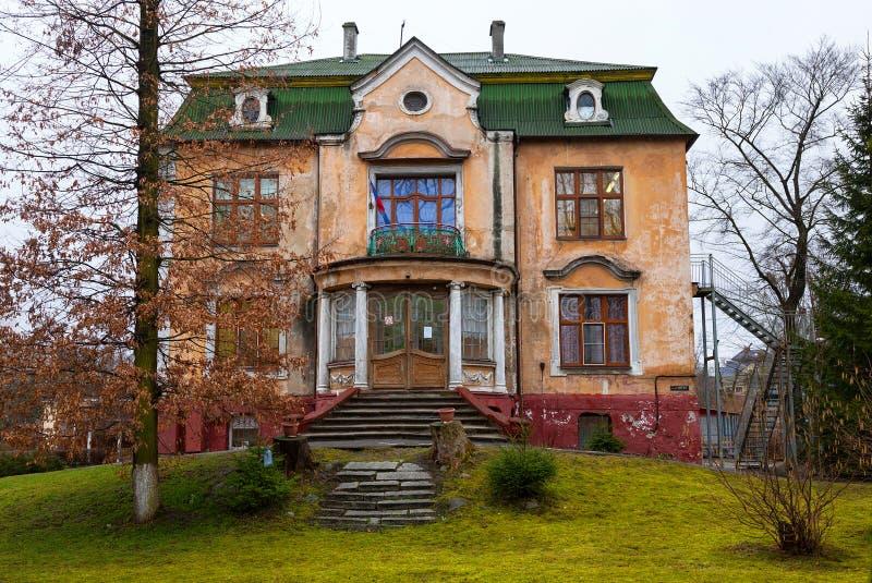 Maison résidentielle allemande de beau vintage photographie stock libre de droits