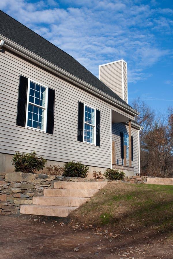 Maison résidentielle neuf établie photographie stock