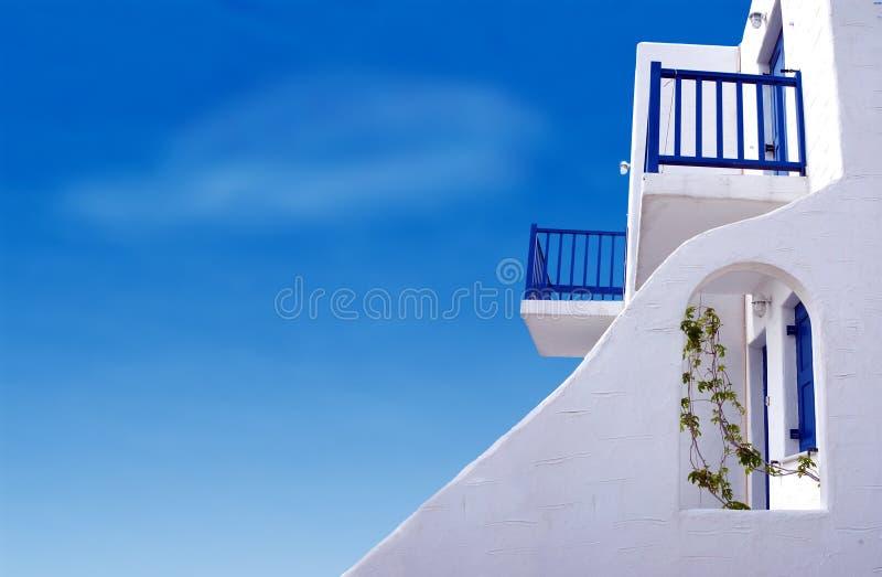 Maison rêveuse grecque images libres de droits