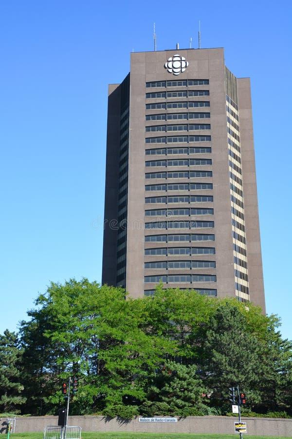 Maison Radio-Canada è un grattacielo fotografia stock
