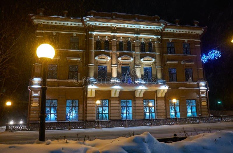Maison rentable du négociant Kukhterin, conçue par l'architecte Konstantin Lygin sur la rue de Lénine Maintenant dans le bâtiment photo libre de droits