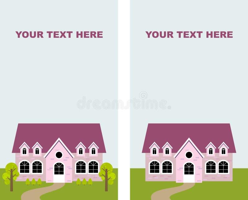 Maison rose illustration libre de droits