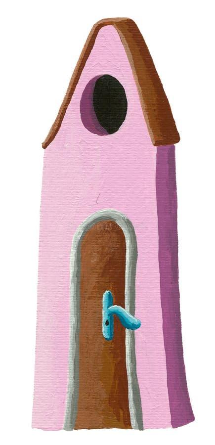 Maison rose illustration de vecteur
