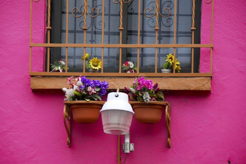 Maison rose dans Coyoacan image libre de droits