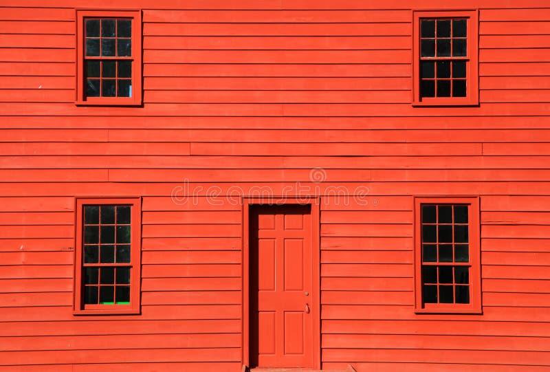 Maison rouge image stock