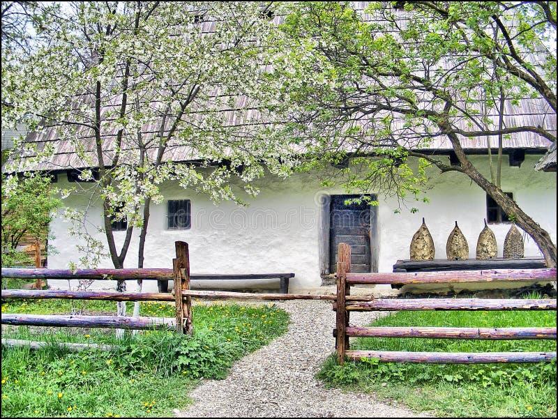 Maison roumaine rustique photo libre de droits