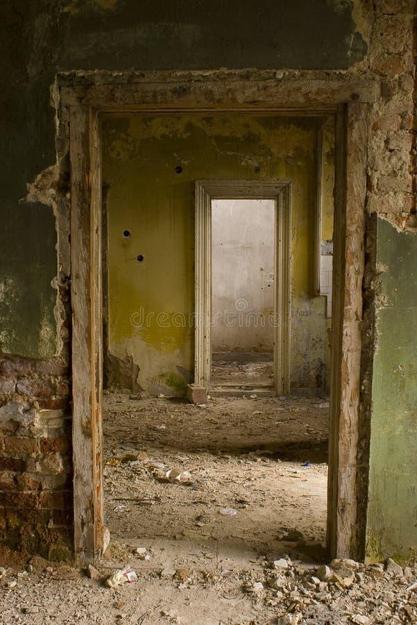 Maison ruinée photographie stock