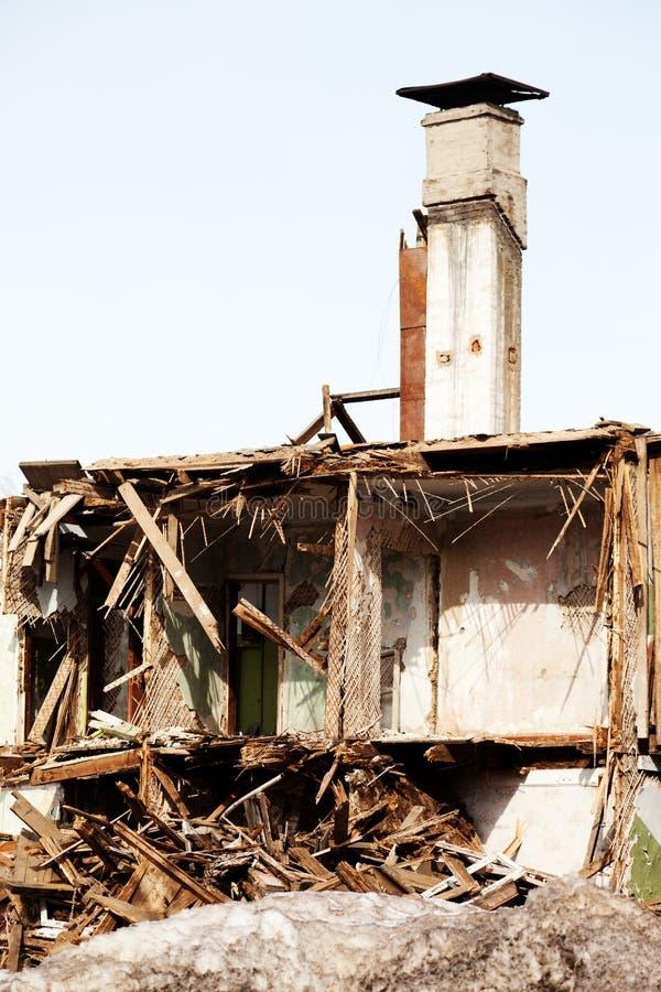 Maison ruinée par désastre images libres de droits