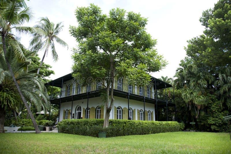Maison sérieuse de Hemingway dans Key West Flroida image libre de droits