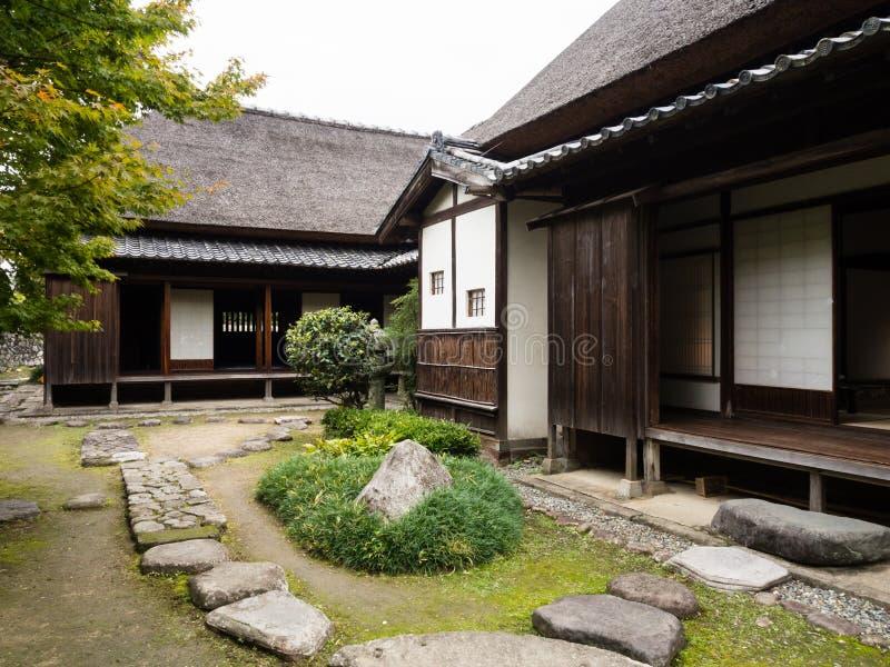 Maison samouraï japonaise traditionnelle dans Kitsuki, préfecture d'Oita images stock