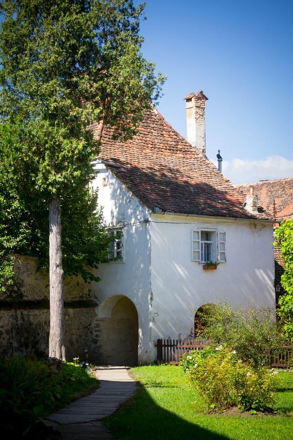 Maison saxonne médiévale image libre de droits