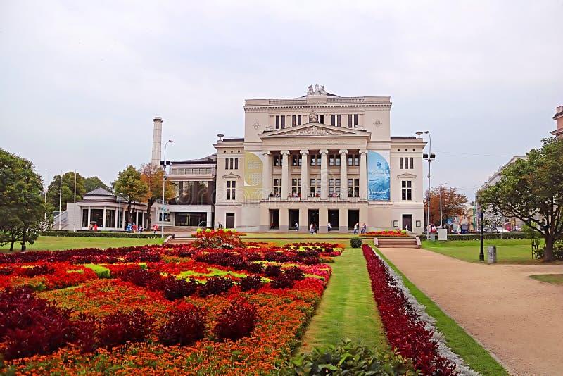 Maison scolaire nationale letton de théâtre d'opéra et de ballet, Riga, Lettonie image libre de droits