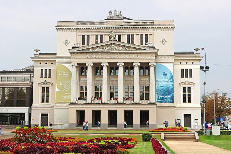 Maison scolaire nationale letton de théâtre d'opéra et de ballet, Riga, Lettonie photos stock