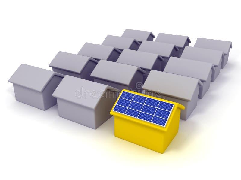 Maison solaire illustration libre de droits