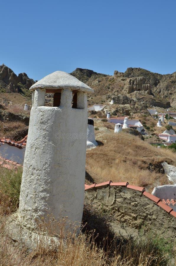 Maison souterraine de caverne de Guadix photographie stock libre de droits