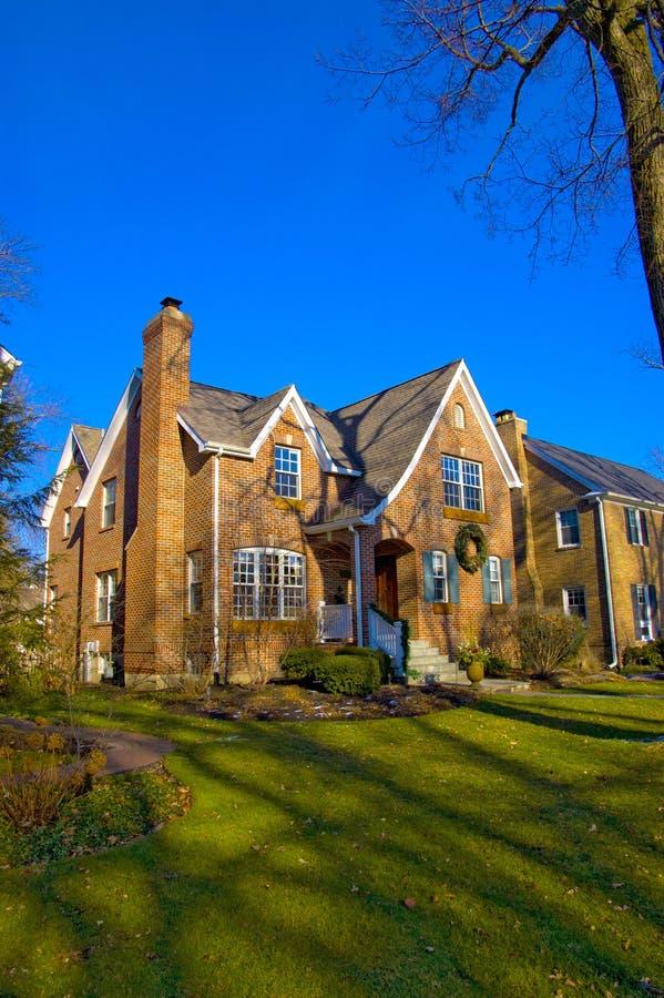 Maison Suburbaine En Illinois Photo libre de droits