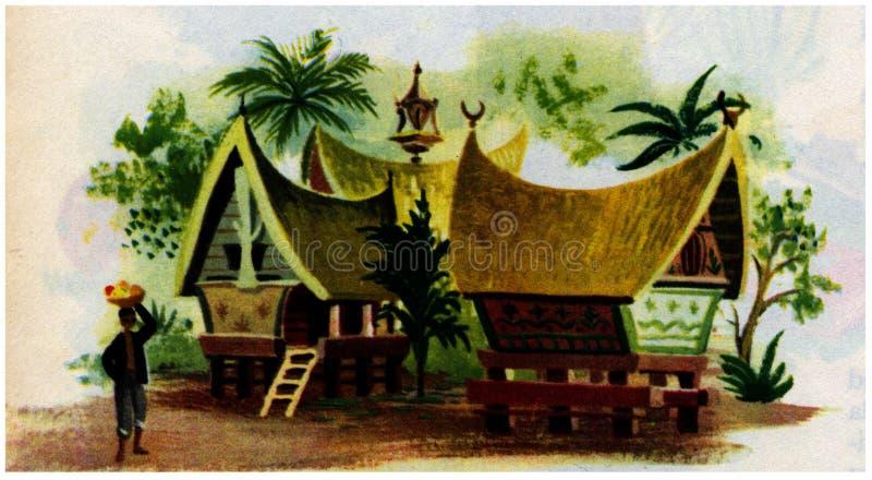 maison sud de l'Asie photo libre de droits