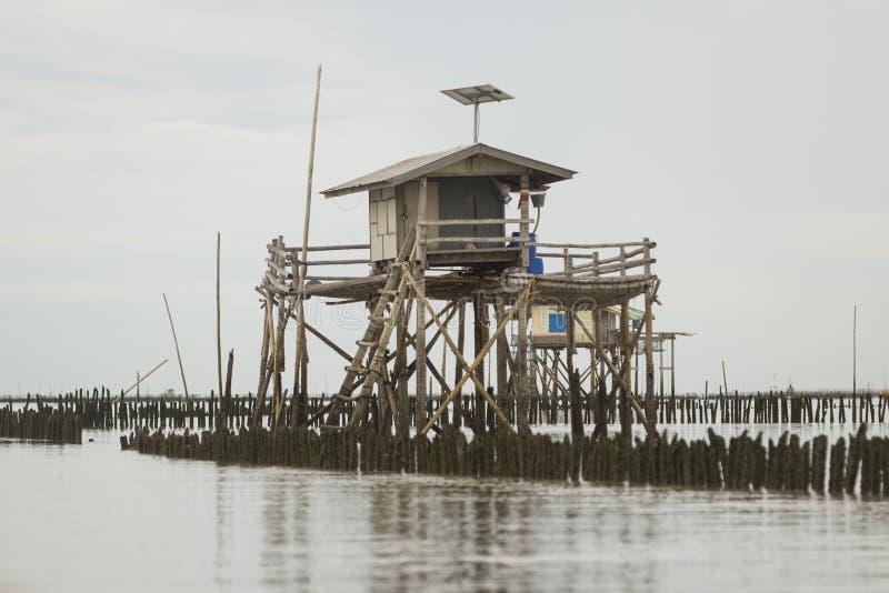 Maison sur la mer photos libres de droits