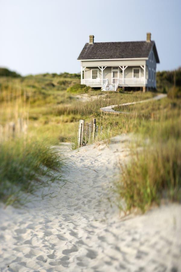 Maison sur la plage photo libre de droits