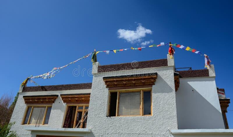 Maison tibétaine dans Ladakh, Inde photo libre de droits