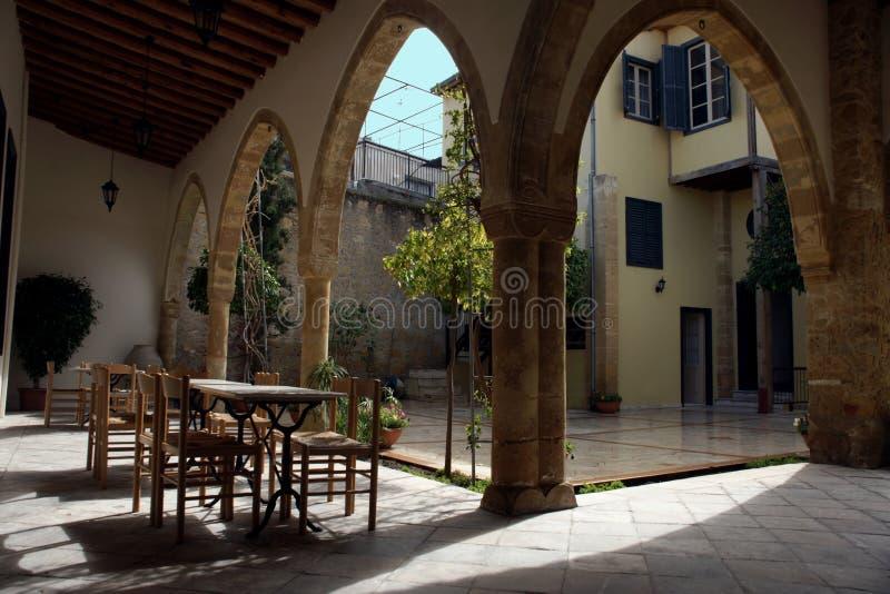 Maison traditionnelle à Nicosia image libre de droits