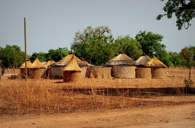 Maison traditionnelle au Ghana du nord photos stock