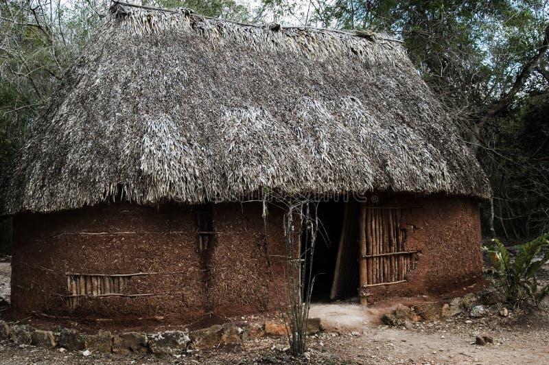Maison traditionnelle de Maya image libre de droits