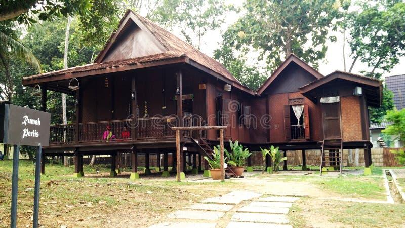 Maison traditionnelle de Perlis de Malais ethnique photo libre de droits