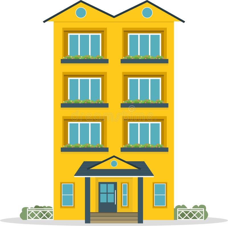Maison traditionnelle Maison familiale Illustration plate de concept de vecteur de conception illustration de vecteur