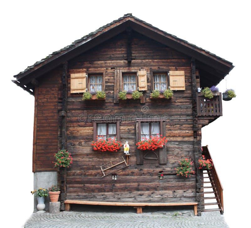 Maison traditionnelle suisse image stock