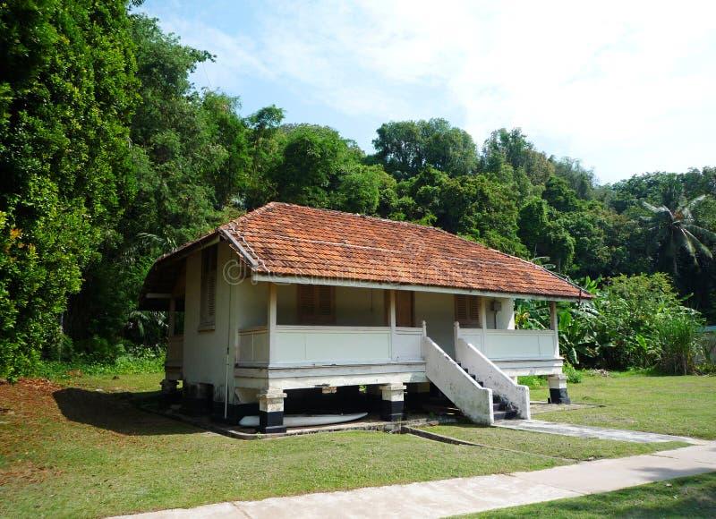 Maison tropicale de type d'île image stock