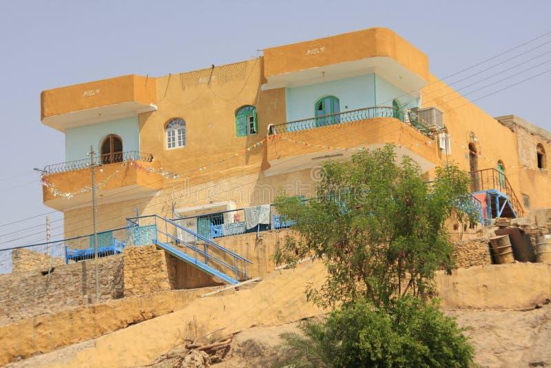 Maison type d'Aswan image libre de droits