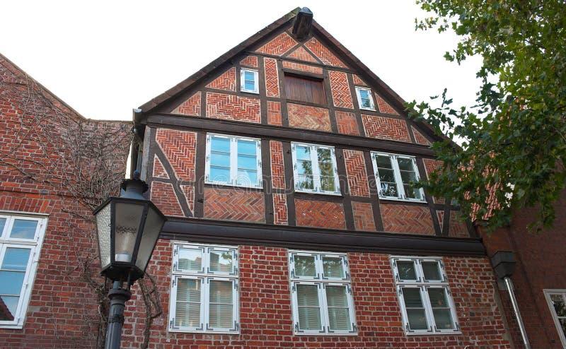 Maison-v-Lueneburg de cadre photo stock